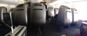 Qantas A380 Business Class Cabin Panorama
