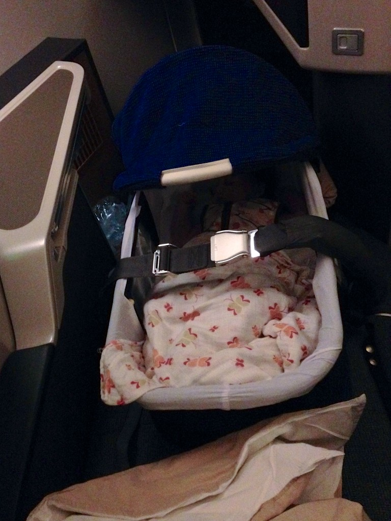 6 Bassinet in Cathay Pacific Business Class HKG-LHR 777-300ER