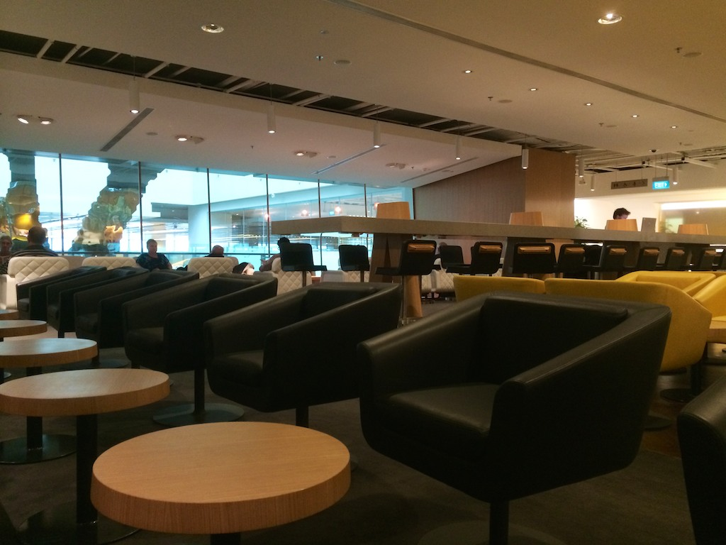 11 Qantas Singapore Lounge - British Airways Club World - BA15 - London to Sydney