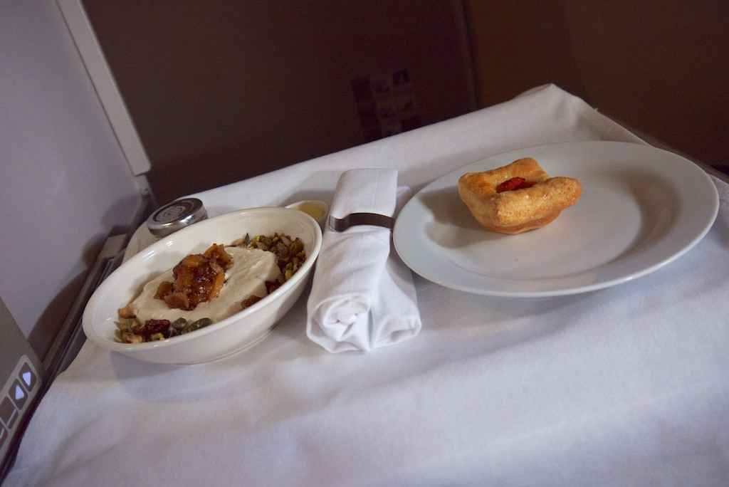 7 Breakfast - British Airways Club World - BA15 - London to Sydney