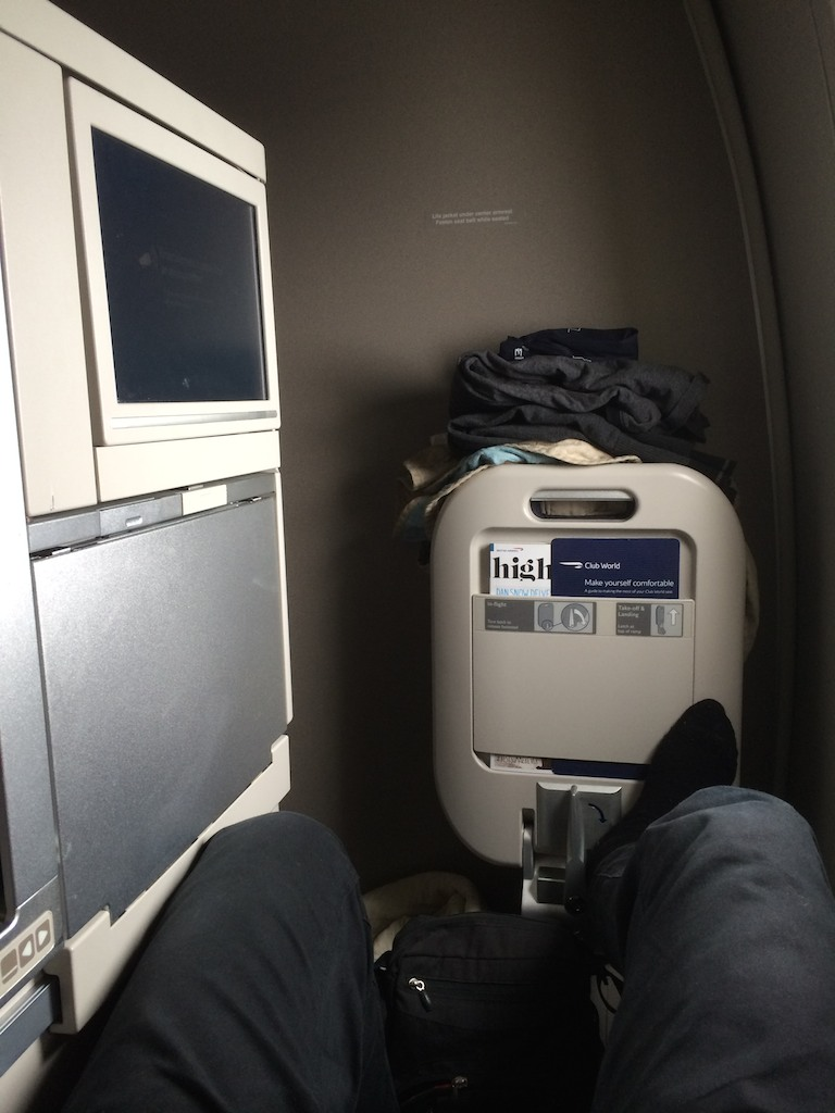 6 Seat 16A - British Airways Club World - BA15 - London to Sydney