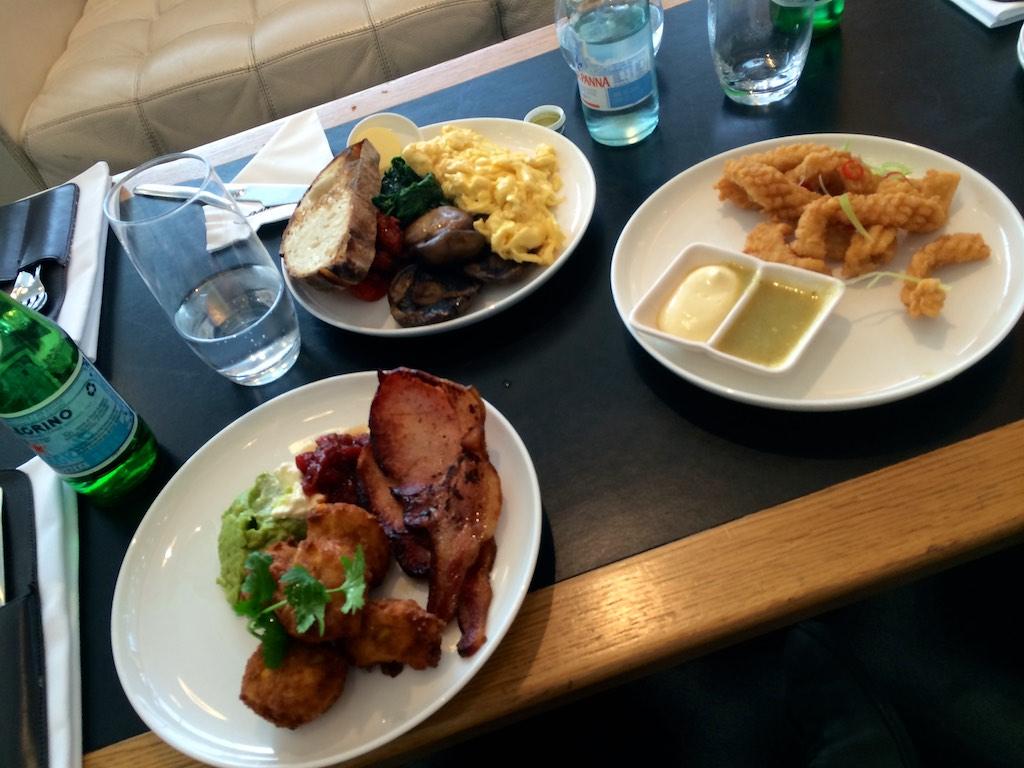 Qantas First Lounge Brunch