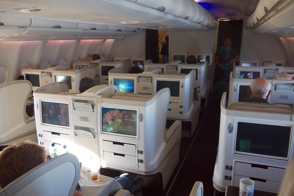 7 Business Class cabin  FJ911  Fiji Airways A330 to Nadi