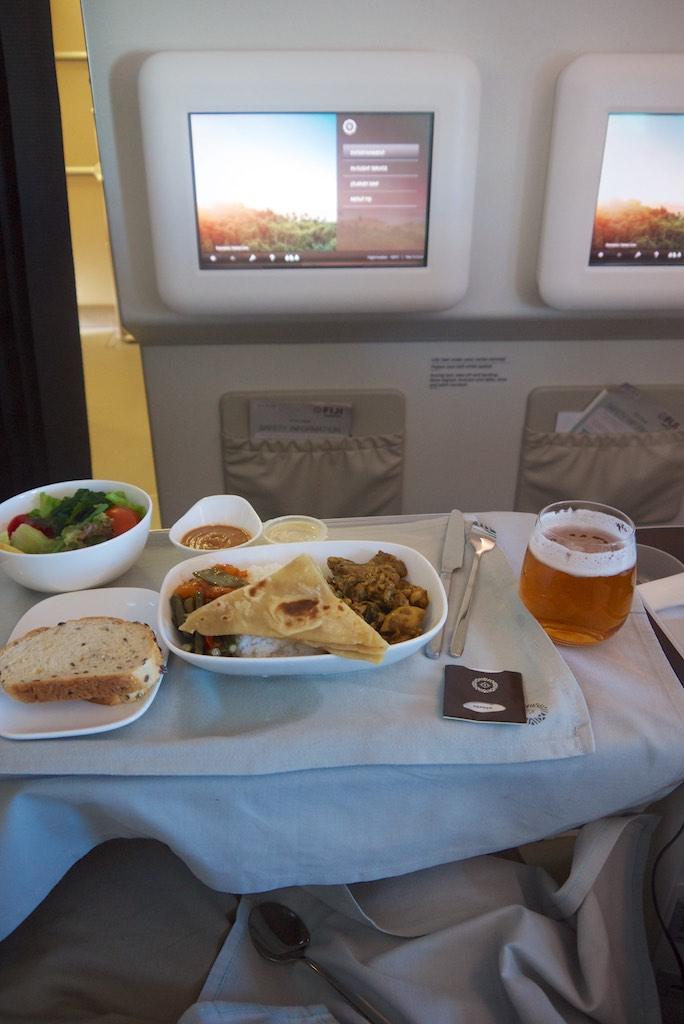 6 Business Class Dinner  FJ911  Fiji Airways to Nadi