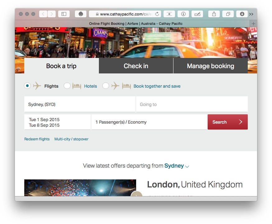 Cathay Asia Miles booking redeem flights