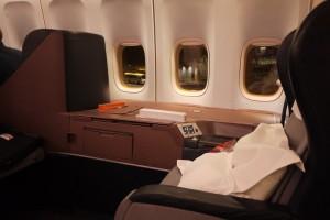 Qantas 747 First Class Cabin