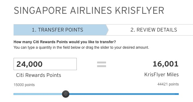 Citi Rewards Transfer