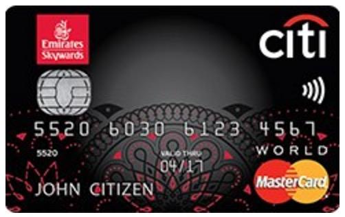 Citi Emirates Mastercard Credit Card Amp Bonus Points