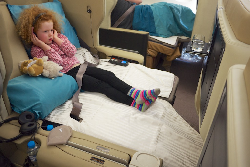 Zoe on Singapore Airlines A380 Business Class