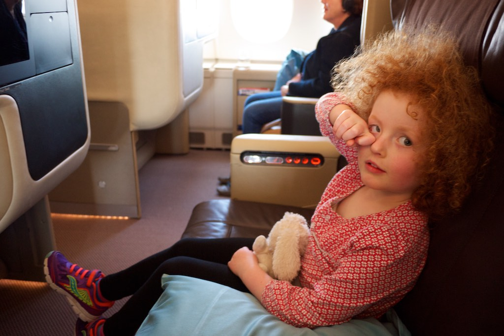 Zoe on Singapore Airlines A380 Business Class (1)