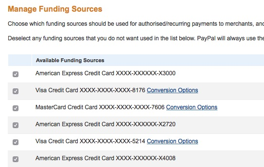 5 Paypal Manage Funding Sources