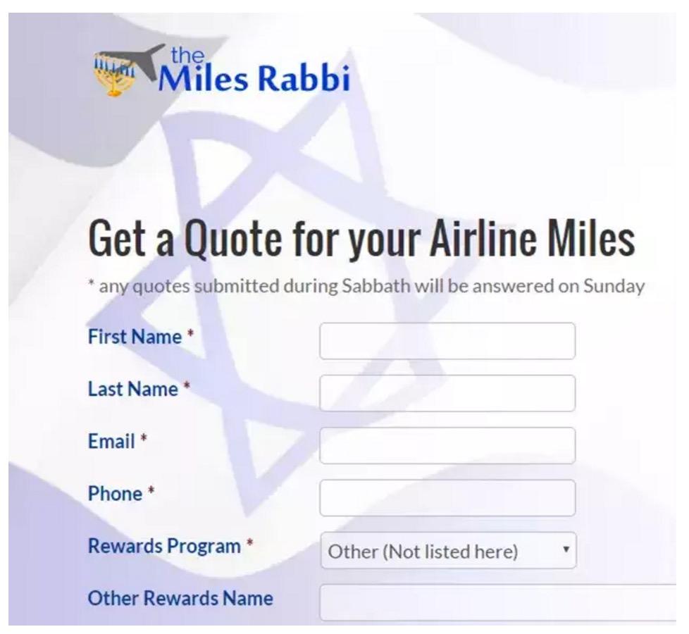 Online Mileage Brokers - The Miles Rabbi