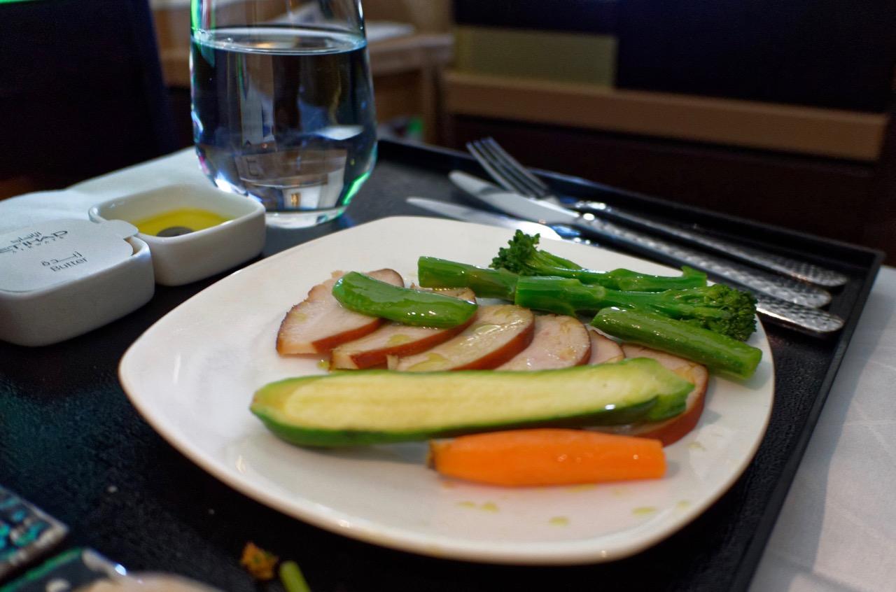 Etihad A380 Business Class Dining