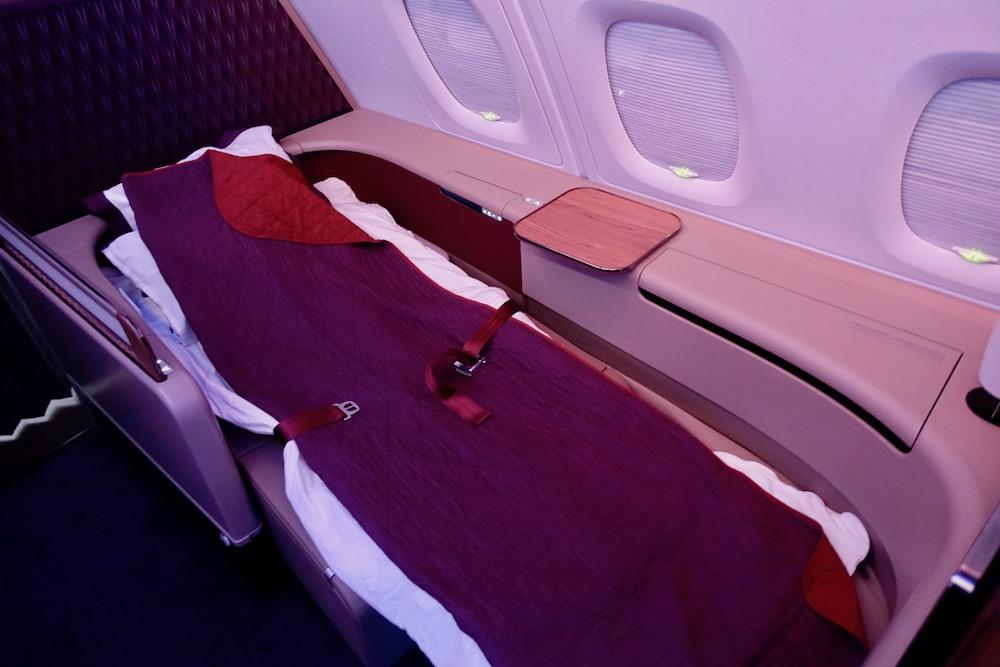 Qatar First Class Suite Lie Flat