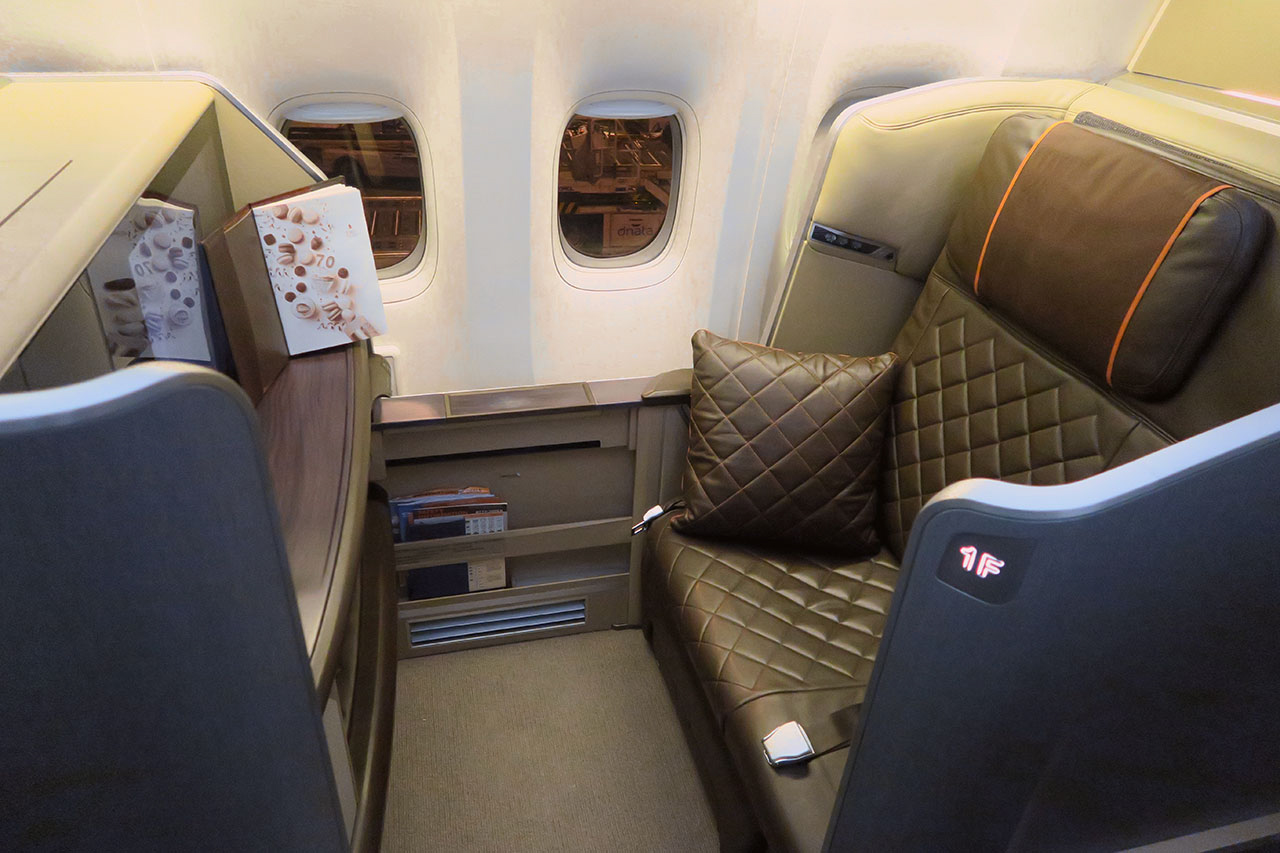 Singapore Airlines 777 300er First Class Overview Point
