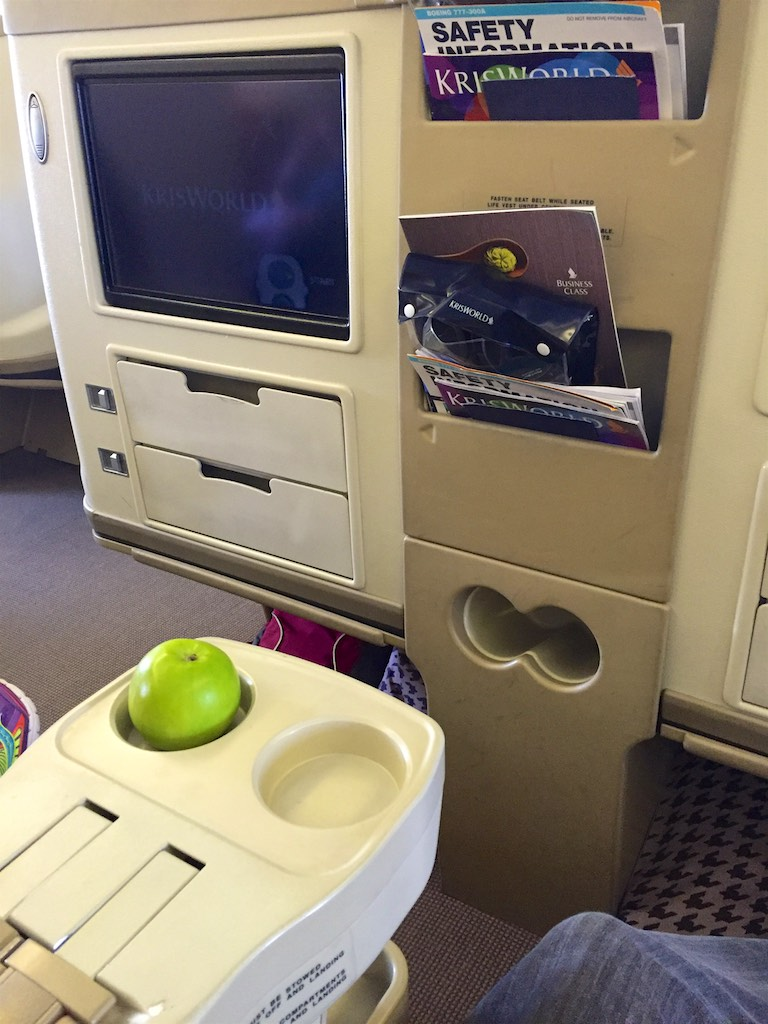 Singapore Airlines 777-300 Business Class Cabin -  SQ211 Business Class (1)