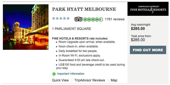 Park Hyatt Melbourne FHR