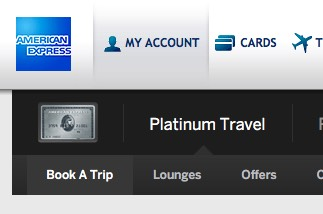 Amex Platinum Travel Book a Trip Menu