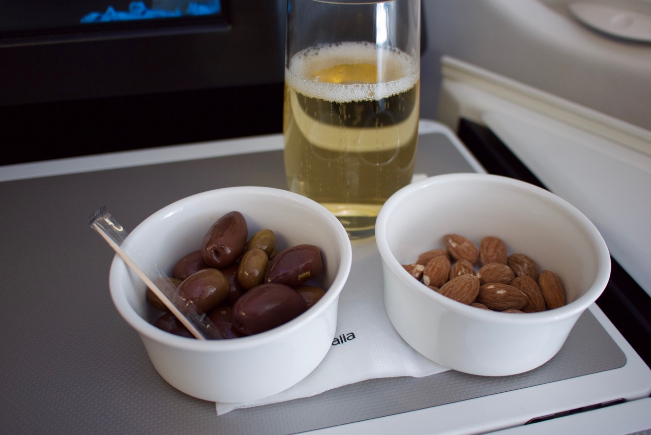 Virgin Australia A330 Business Class Snacks & Champagne