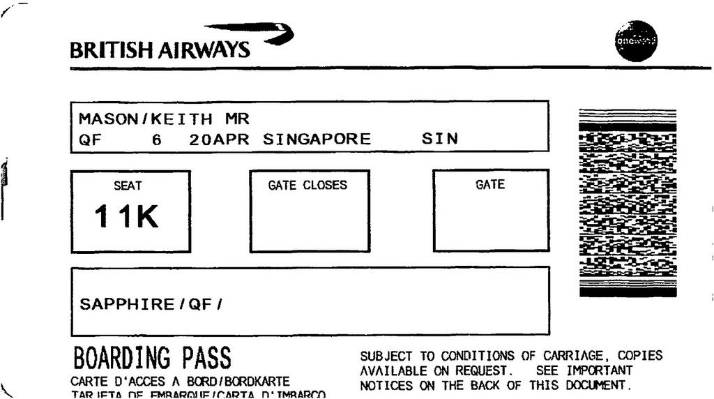 QF6 Frankfurt - Singapore in Qantas Business Class
