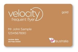 Virgin Australia Velocity Frequent Flyer Gold Card example | Point Hacks