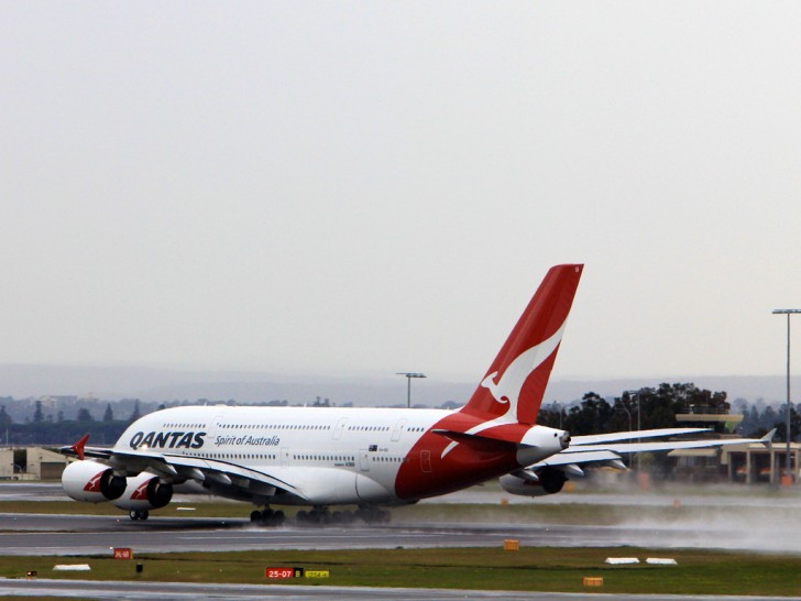 Qantas Airlines Airplane on runway | Point Hacks