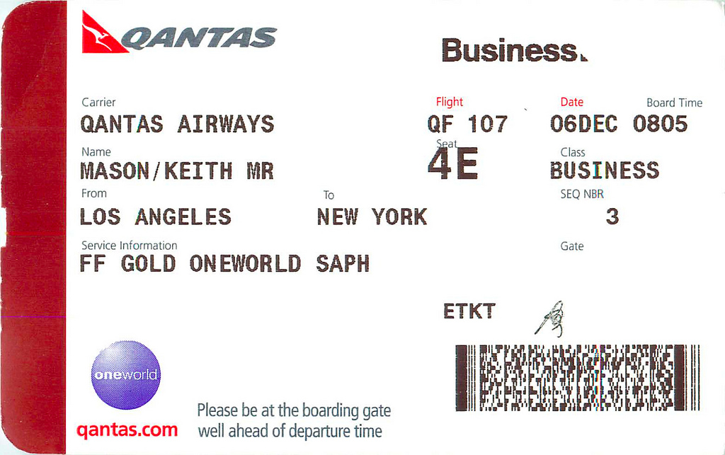 Sydney to New York - Qantas Business Class review