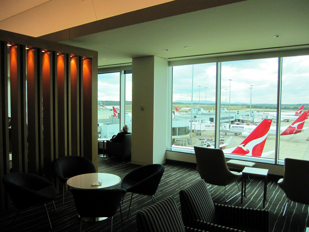 Melbourne Qantas Domestic Business Lounge