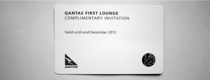 How to use your Qantas First Lounge Invitation