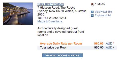 Park Hyatt Sydney Room Rates Screen   Point Hacks