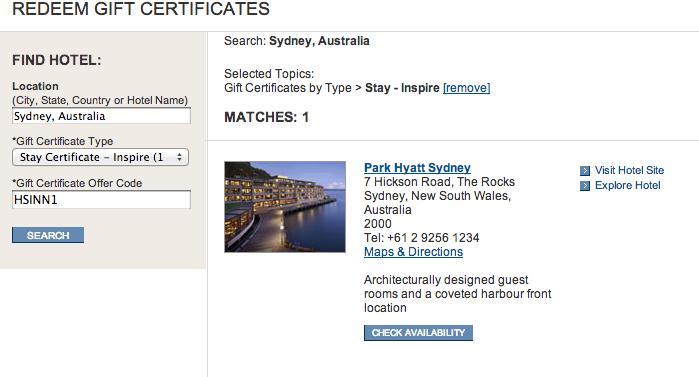Park Hyatt Sydney Redemption   Point Hacks
