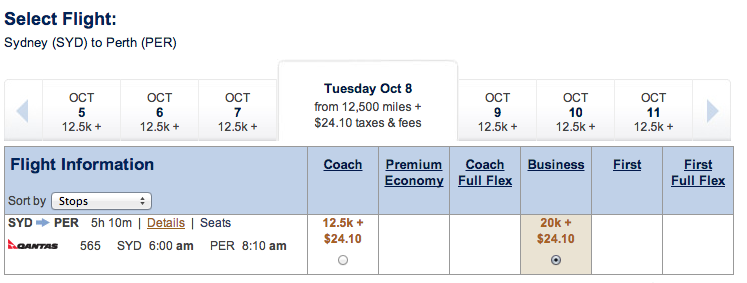 Alaska Airlines Qantas taxes example