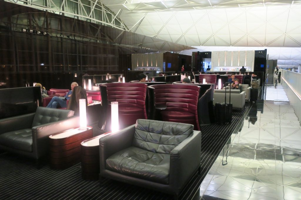 Cathay Pacific The Wing First Class Lounge seats