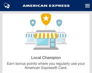 Are you getting up to 10,000 bonus points a year by shopping local with Amex?