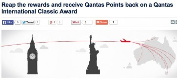 25% rebate on international Qantas Classic Award bookings made until end of February, for travel until end of March