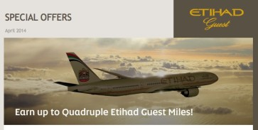 Etihad Guest offering triple and quadruple miles for Etihad flights in Business & First Class