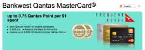 Bankwest reduce the Qantas point earn rates on Bankwest Qantas Mastercards