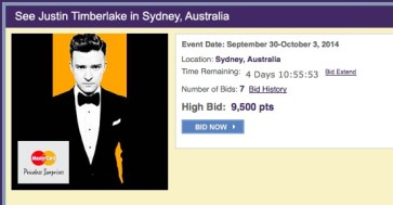 SPG Moments offering some exclusive entertainment offers in Sydney – Justin Timberlake & Cirque de Soleil