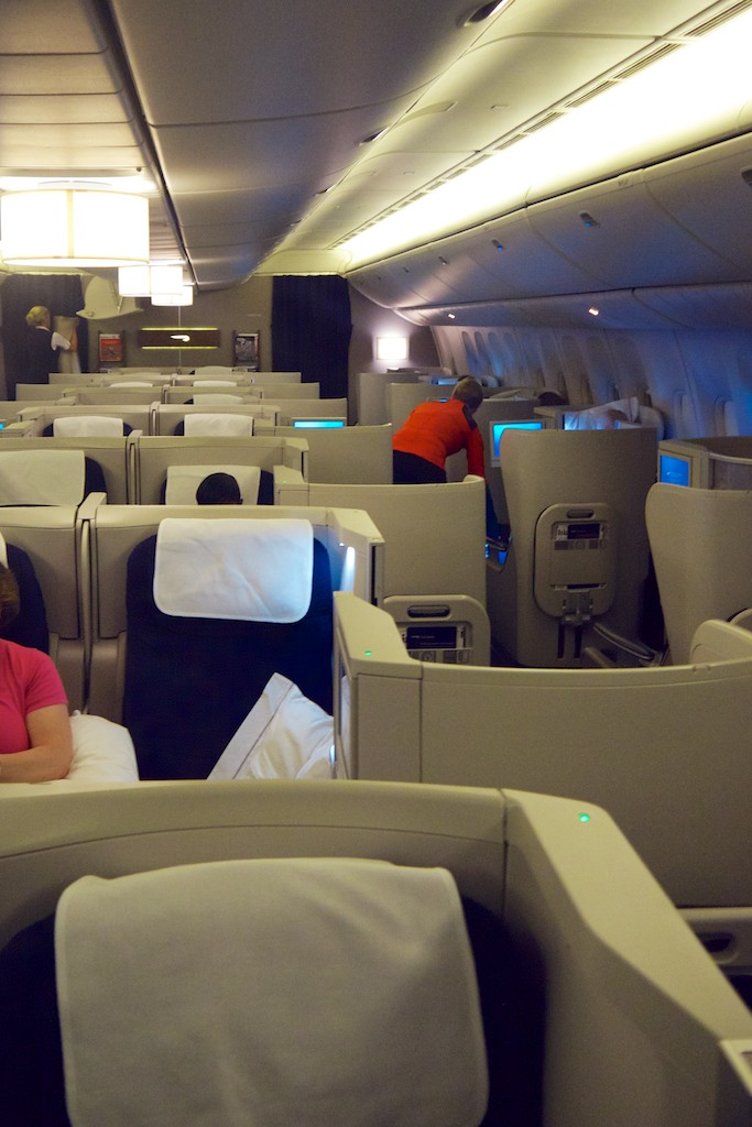 15 Cabin before arrival in Sydney - British Airways Club World - BA15 - London to Sydney