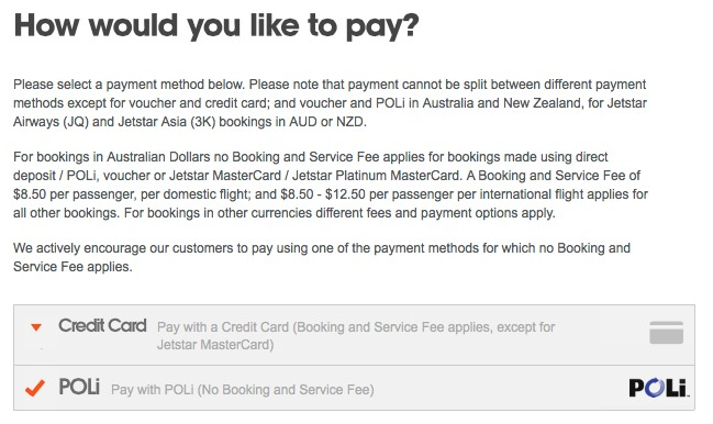Avoid Jetstar s Credit Card Fees 6
