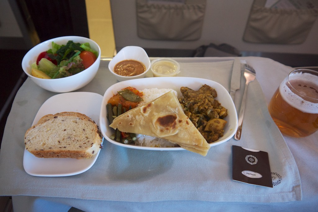 5 Business Class Dinner  FJ911  Fiji Airways to Nadi