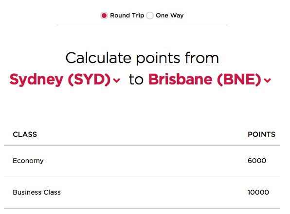 Virgin America SYD-BNE rates