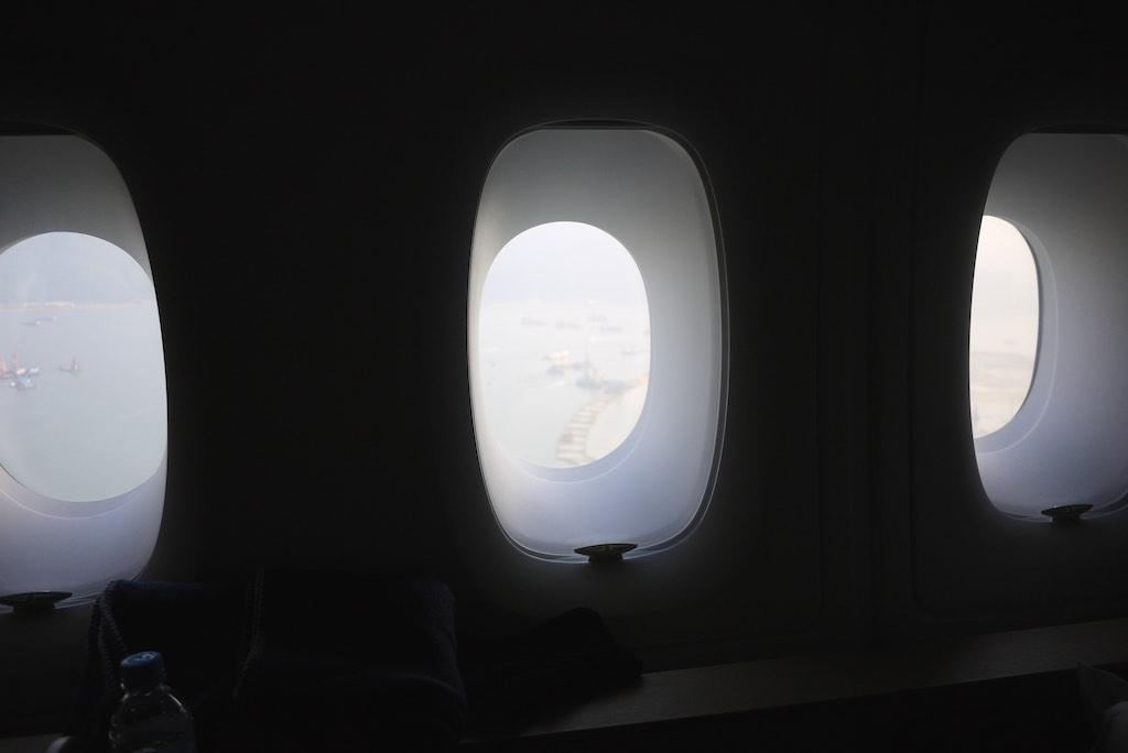 23 Qantas A380 First Class - Landing in Hong Kong