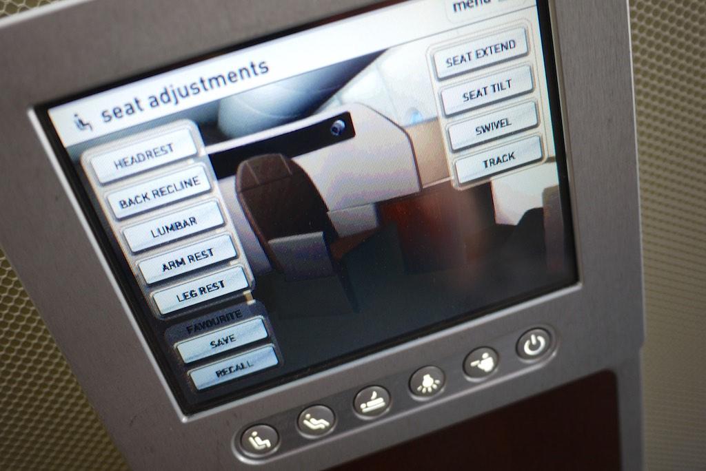 21 Qantas A380 First Class Seat Controls