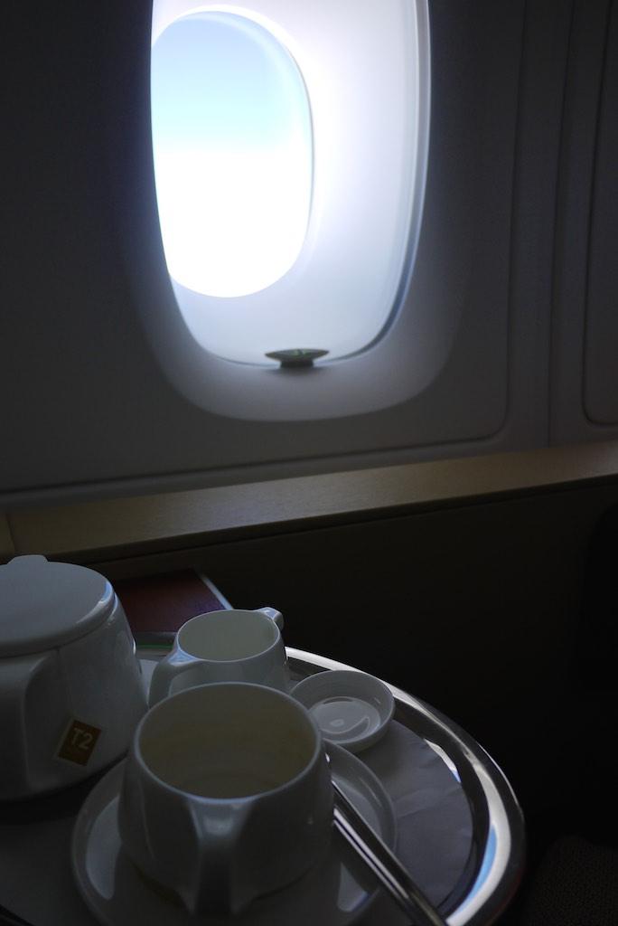 14 Qantas A380 First Class Tea - QF127 Sydney - Hong Kong