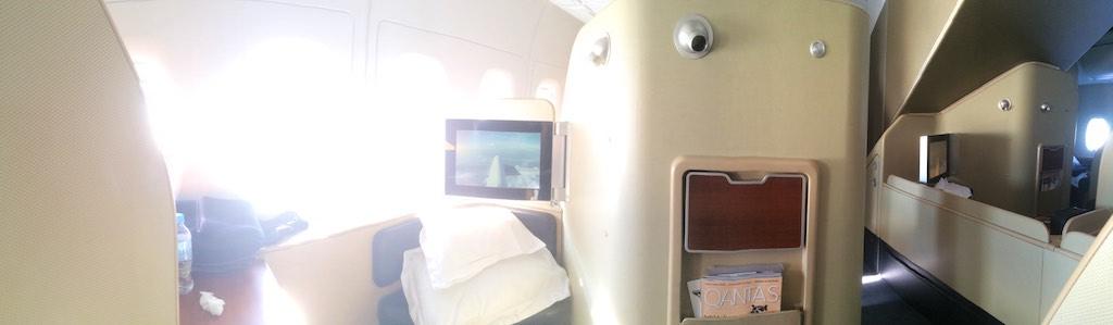 4 Qantas A380 First Class Cabin - QF127 Sydney - Hong Kong
