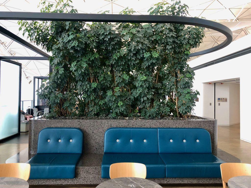 Qantas Hong Kong Lounge seating