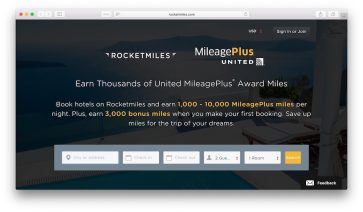 Earn 3,000 bonus miles with Asia Miles or United on your first hotel booking with Rocketmiles