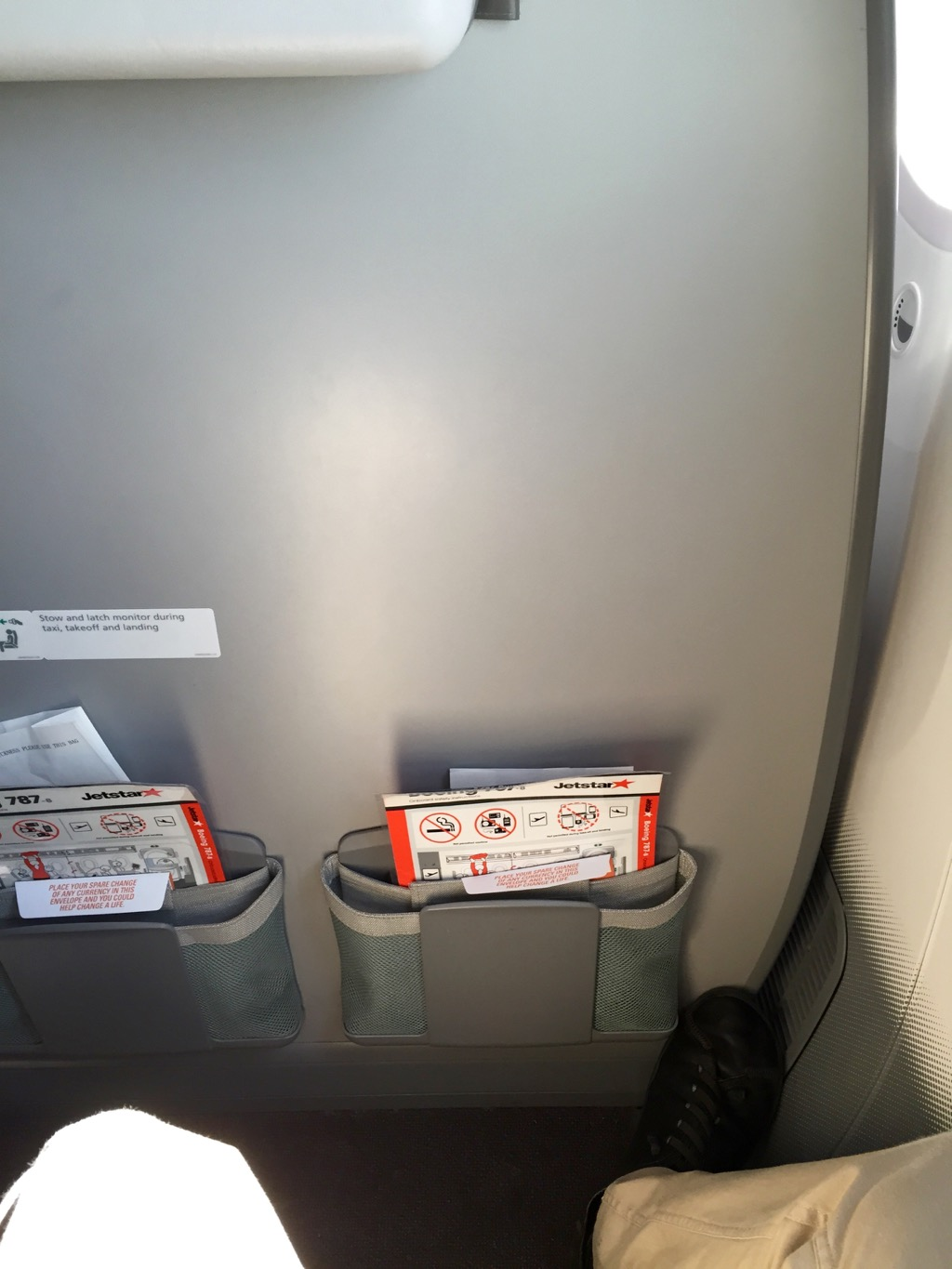 Jetstar 787 Economy Forward Cabin Legroom