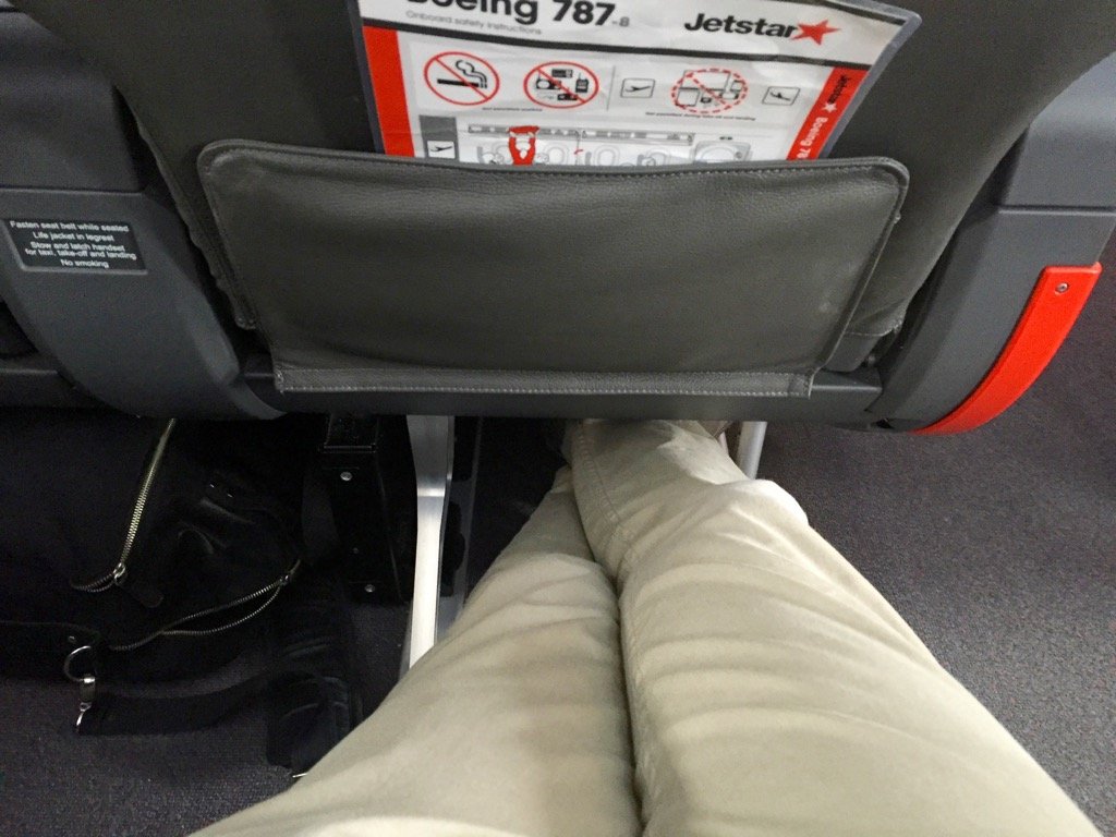 Jetstar 787 StarClass - Business Class Legroom